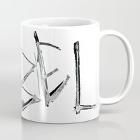 rebel Mugs featuring Rebel by Victoria Schiariti
