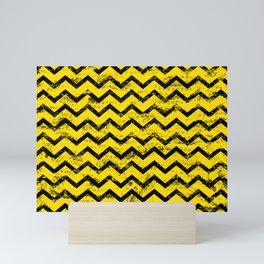 CHEVRON HONEY Mini Art Print