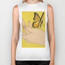 Butterfly on hand Biker Tank