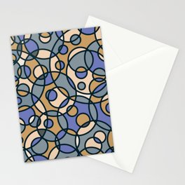 Retro Circles Background Pattern Cutest Stationery Cards
