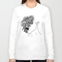 anxiety Long Sleeve T-shirts featuring Anxiety by Jacquelyn Anthony