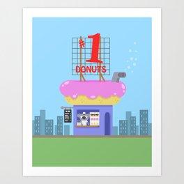 Snack Shacks #1 - Number One Donuts Art Print