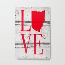 Ohio Love Wood Print Metal Print