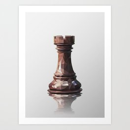rook low poly Art Print