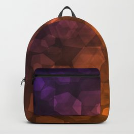 Orange blue abstract pattern . Backpack