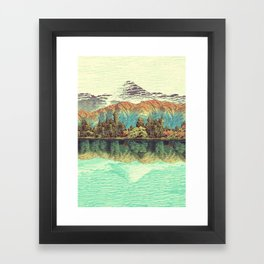 The Unknown Hills in Kamakura Framed Art Print