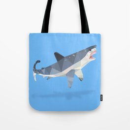Low Poly Great White Shark Tote Bag