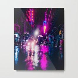 Purple Cyberpunk Metal Print