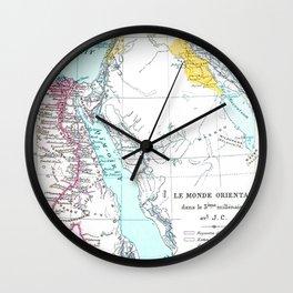 Oriental Map Wall Clock