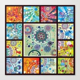 all zodiacs Canvas Print