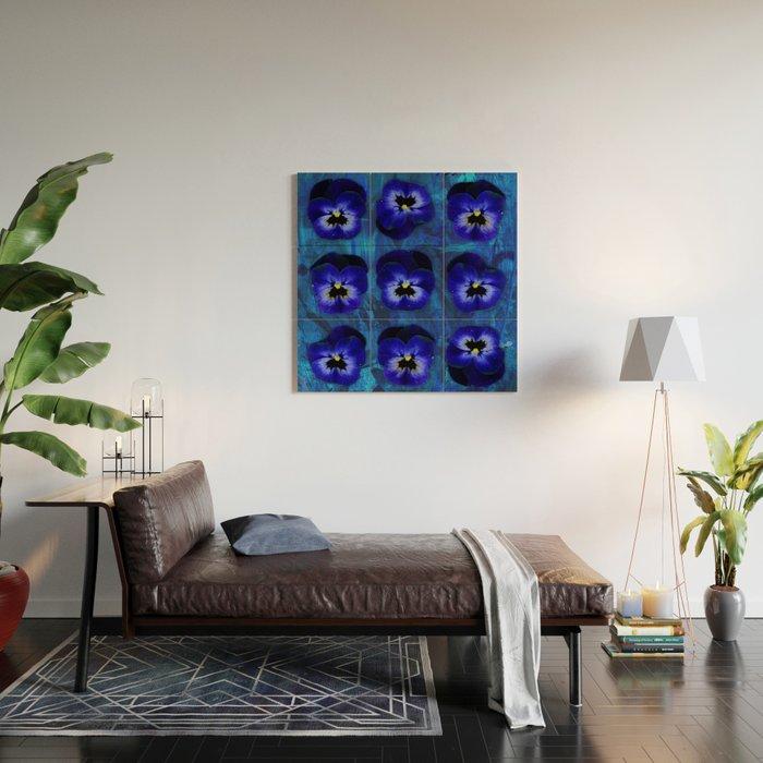 Deep Blue Velvet Wood Wall Art