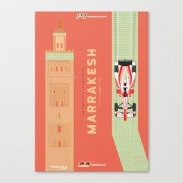 Mahindra Racing FIA Formula E Season Three Race 02 Marrakesh ePrix Poster Canvas Print