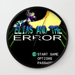 """Elias and the Error """"Title Screen"""" Wall Clock"""