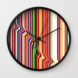Fab Stripea Wall Clock
