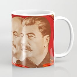Marx, Engels, Lenin and Stalin, 1953 Propaganda Coffee Mug
