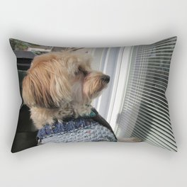 Copper looking for Daddy Rectangular Pillow