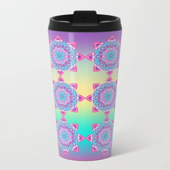 Deco Fantasy star in pastels Metal Travel Mug