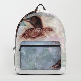 Loon Calling by Maureen Donovan Backpack