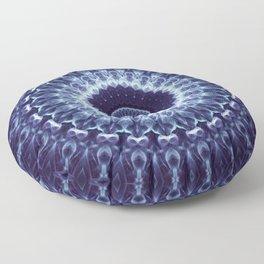 Mandala in dark blue colors Floor Pillow