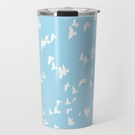 Happy Birds Aqua Travel Mug