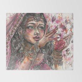 Goddess Lakshmi Throw Blanket