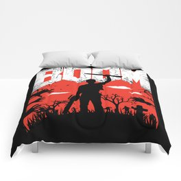 This... is my BOOMSTICK! Evil dead mash up Comforters