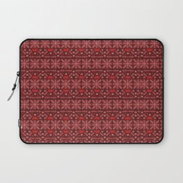 Antiallergenic Hand Knitted Red Winter Wool Pattern -Mix & Match with Simplicty of life Laptop Sleeve