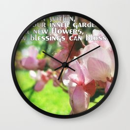 Spring in Hesse's quote Wall Clock