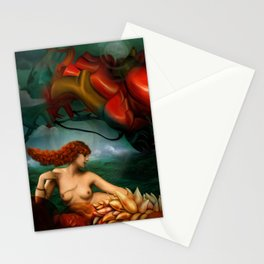 My heart like a sea monster Stationery Cards