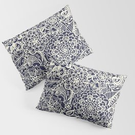 Lace on Nautical Navy Blue Pillow Sham