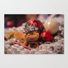 christmas lizard Canvas Print