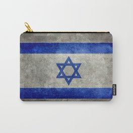 Flag of the State of Israel - Distressed worn patina Carry-All Pouch