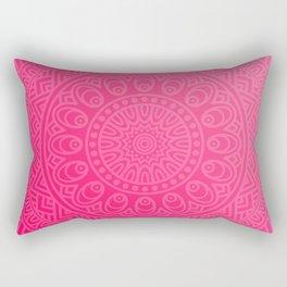 Native Aztec Tribal Pink Mandala Pattern Rectangular Pillow