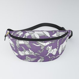 origami animal ditsy purple Fanny Pack