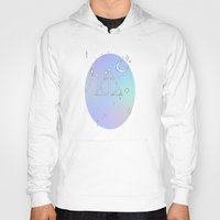deathly hallows Hoodies featuring pastel deathly hallows // 2 by Milly Scarlett
