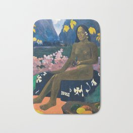 The Seed of the Areoi by Paul Gauguin Bath Mat