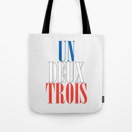 UN DEUX TROIS Tote Bag