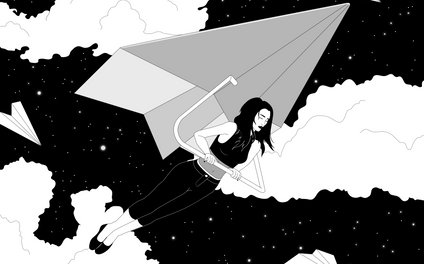 Art Print - The Paper Plane Journey - camissao