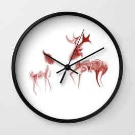 Java Deer Wall Clock