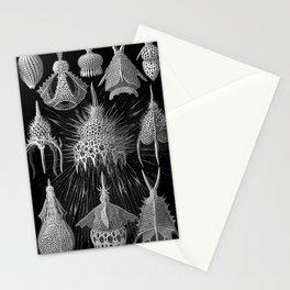 Plankton Shells (Cyrtoidea) by Ernst Haeckel Stationery Cards