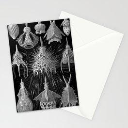 Plankton Shells (Cyrtoidea) by Ernst Haeckel Stationery Cards