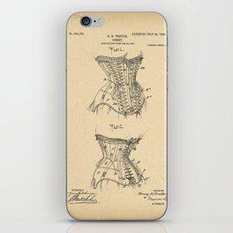 1908 Patent Corset iPhone Skin
