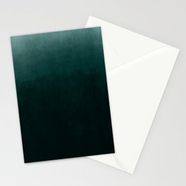 Ombre Emerald Stationery Cards
