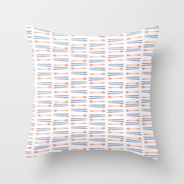 Chopsticks Silhouettes Vector Cutlery Throw Pillow