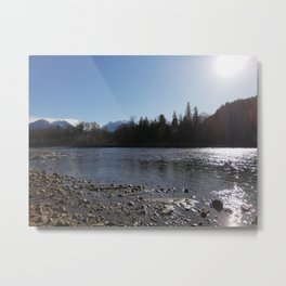 Sun reflections at Squamish River Metal Print