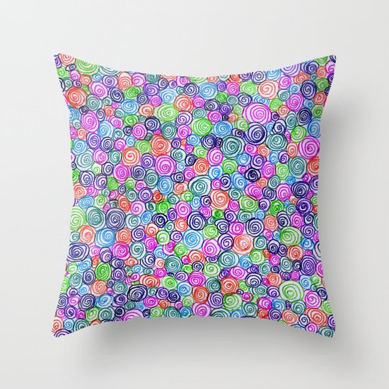 Do the Twist (bright) Throw Pillow