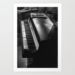 Vintage Keyboard Art Print