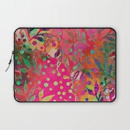 Tropical Summer colorful botanical pattern Laptop Sleeve