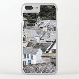 Port Isaac Rooftops Clear iPhone Case