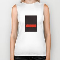 rothko Biker Tanks featuring Black, Red and Black 1968 Mark Rothko by Rothko